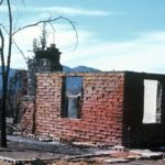 4 1970 Brick facade of wood shingle home. 1970 Wrigth Fire (Medium)